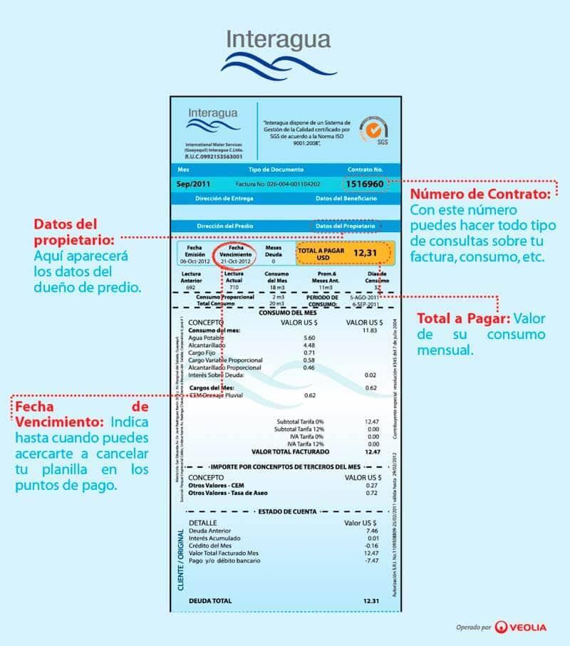 factura-de-agua-interagua-guayaquil