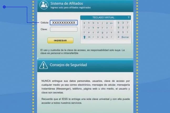 Cómo registrar cuenta bancaria en el IESS