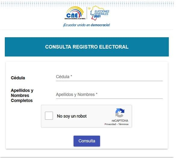 Como consultar el lugar de votación 2021