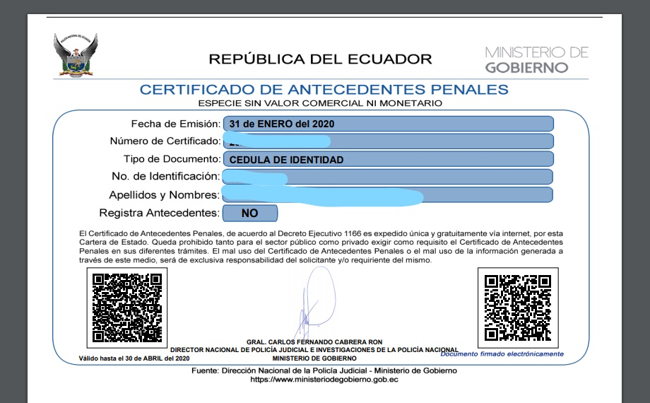 ¿Cómo sacar el Certificado de Antecedentes Penales (Récord Policial) por internet y gratis?